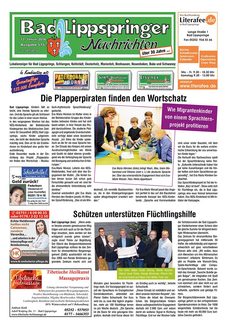 Bad Lippspringer Nachrichten 575 vom 13.01.2016