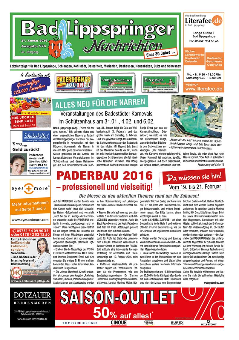 Bad Lippspringer Nachrichten 576 vom 27.01.2016