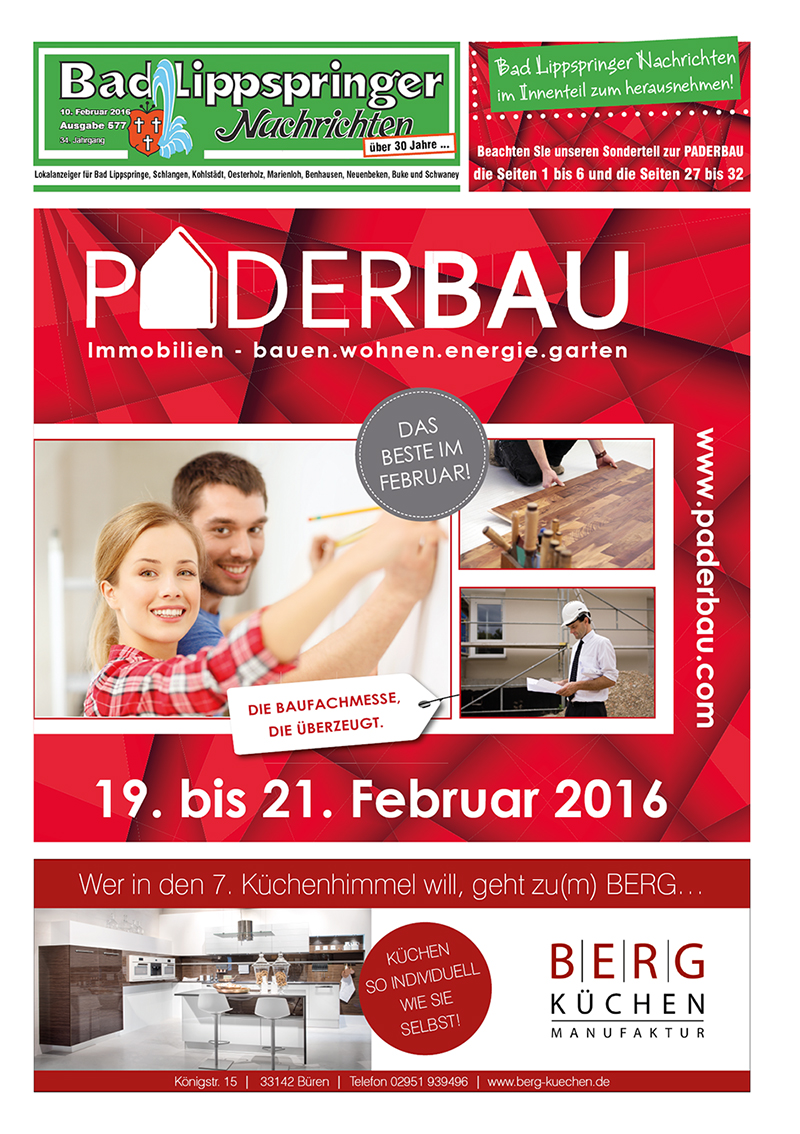 Bad Lippspringer Nachrichten 577 vom 10.02.2016