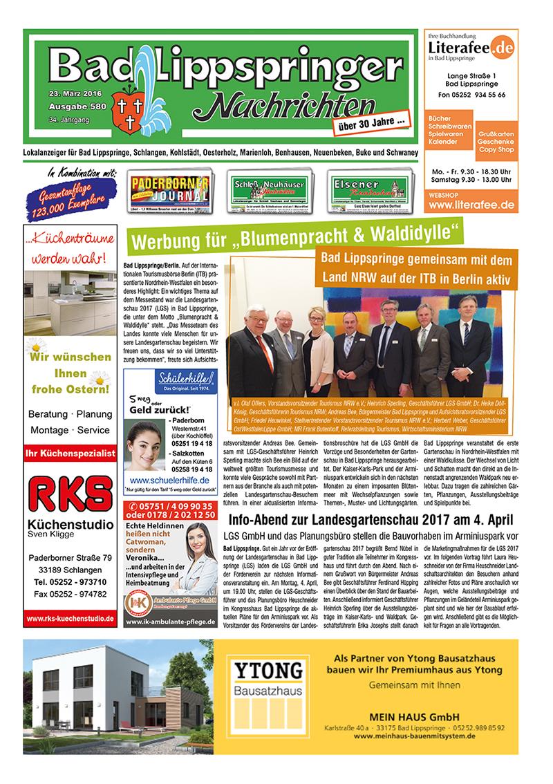 Bad Lippspringer Nachrichten 580 vom 23.03.2016