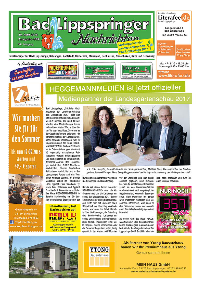 Bad Lippspringer Nachrichten 582 vom 20.04.2016