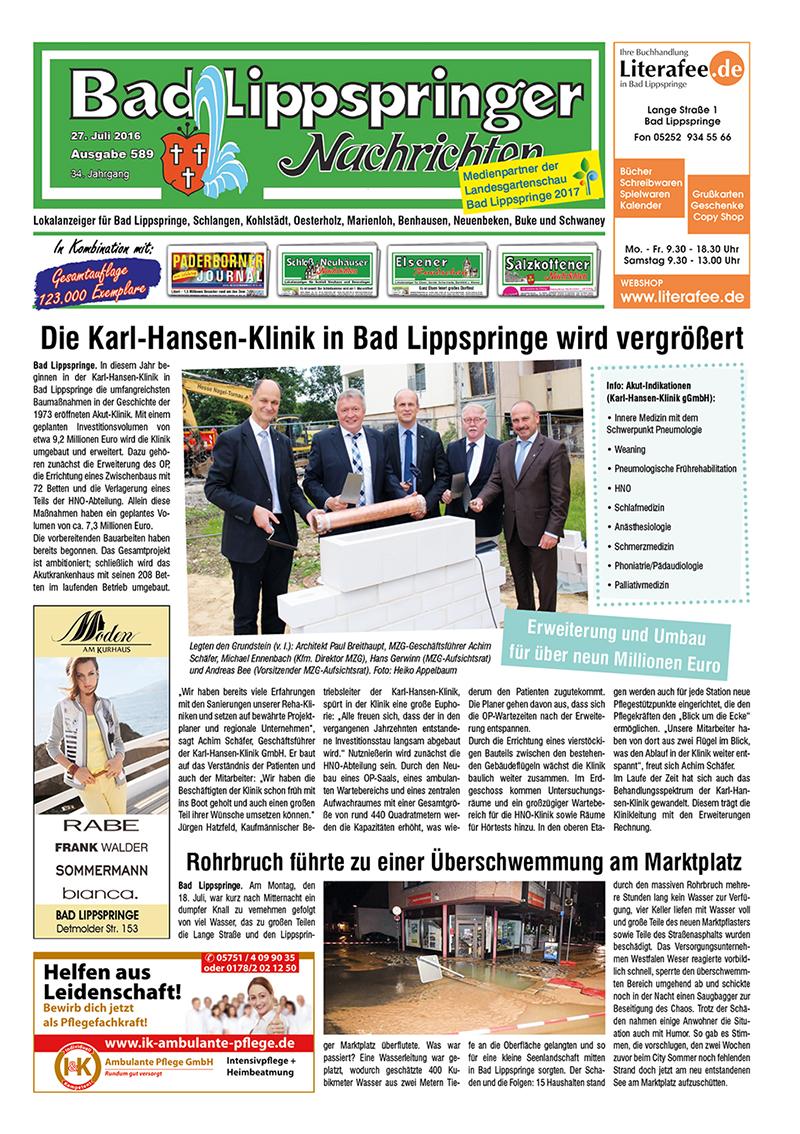 Bad Lippspringer Nachrichten 589 vom 27.07.2016
