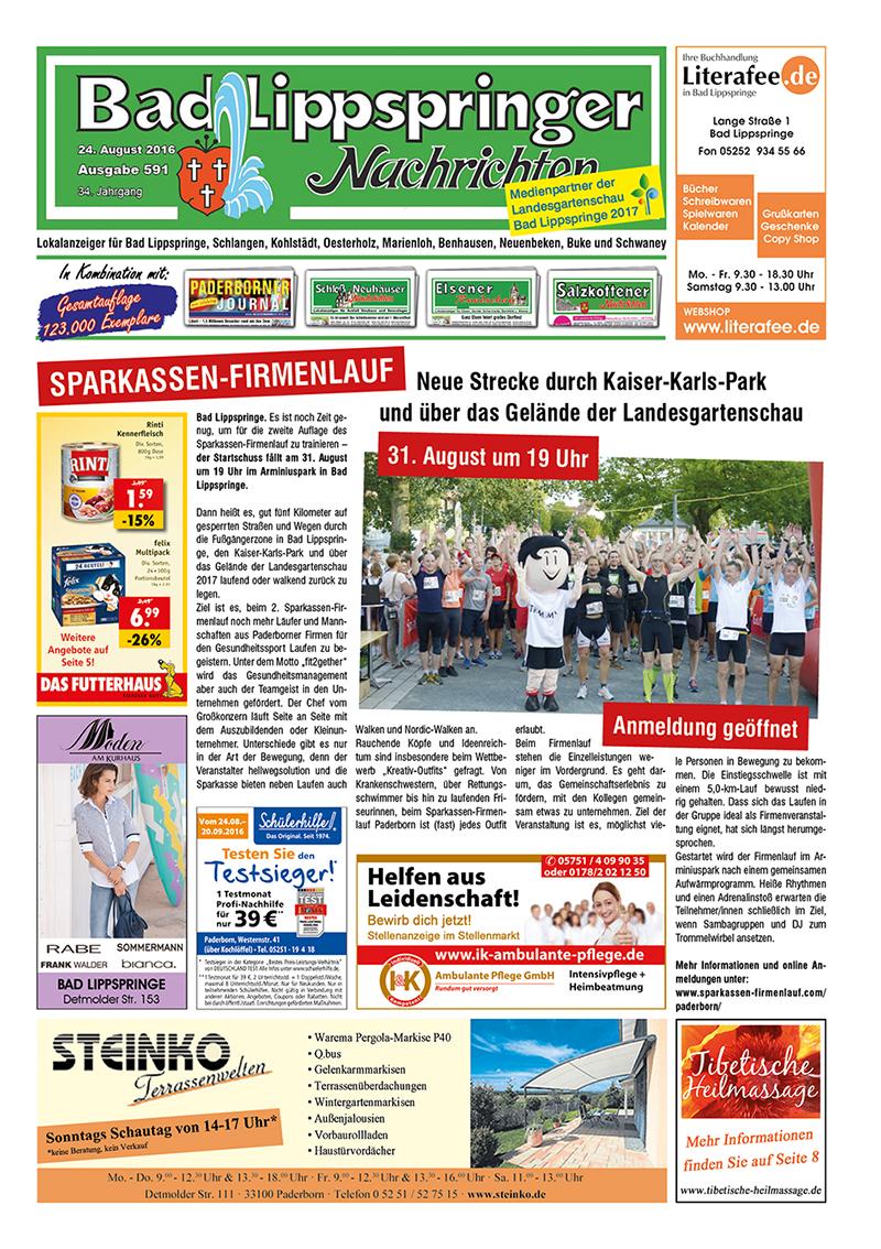 Bad Lippspringer Nachrichten 591 vom 24.08.2016