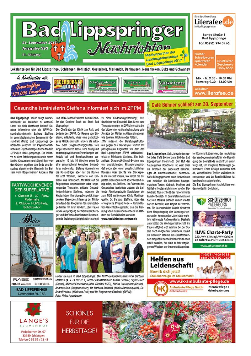 Bad Lippspringer Nachrichten 593 vom 21.09.2016