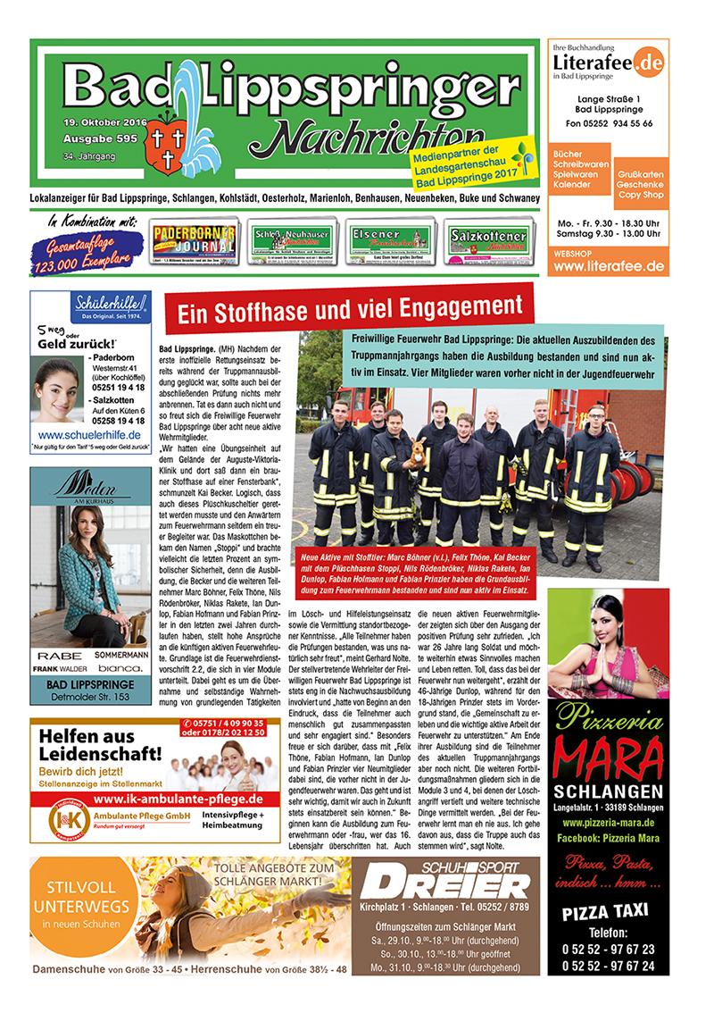 Bad Lippspringer Nachrichten 595 vom 19.10.2016