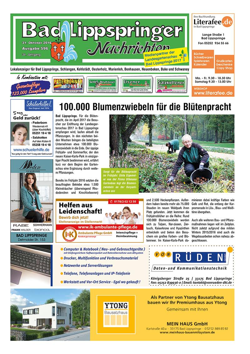 Bad Lippspringer Nachrichten 596 vom 31.10.2016