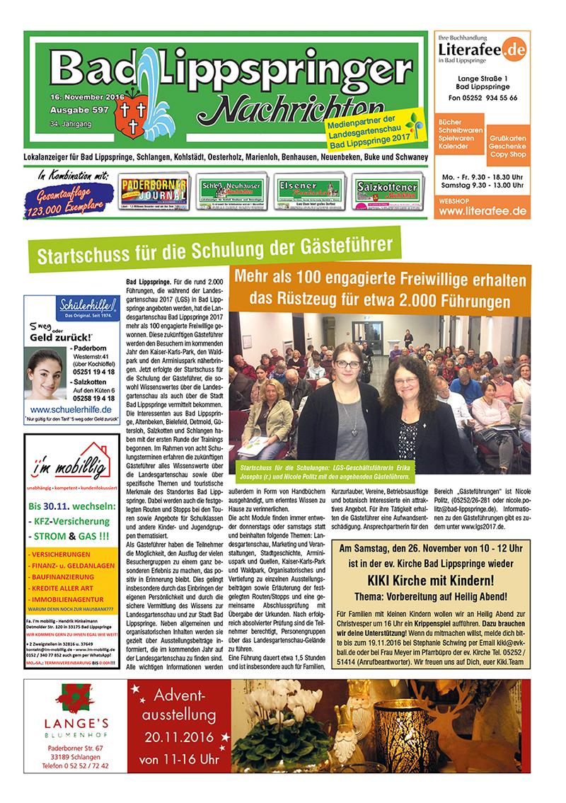 Bad Lippspringer Nachrichten 597 vom 16.11.2016