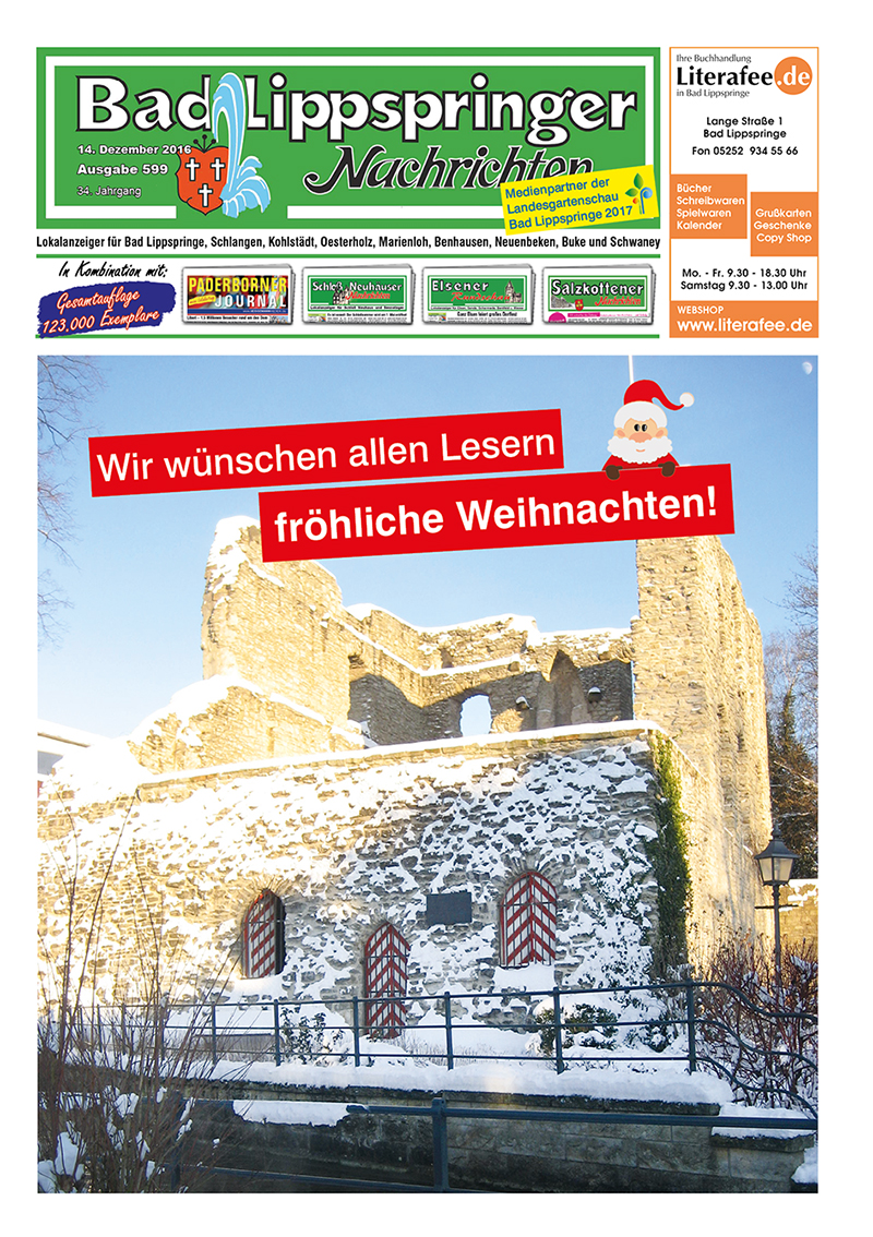 Bad Lippspringer Nachrichten 599 vom 14.12.2016