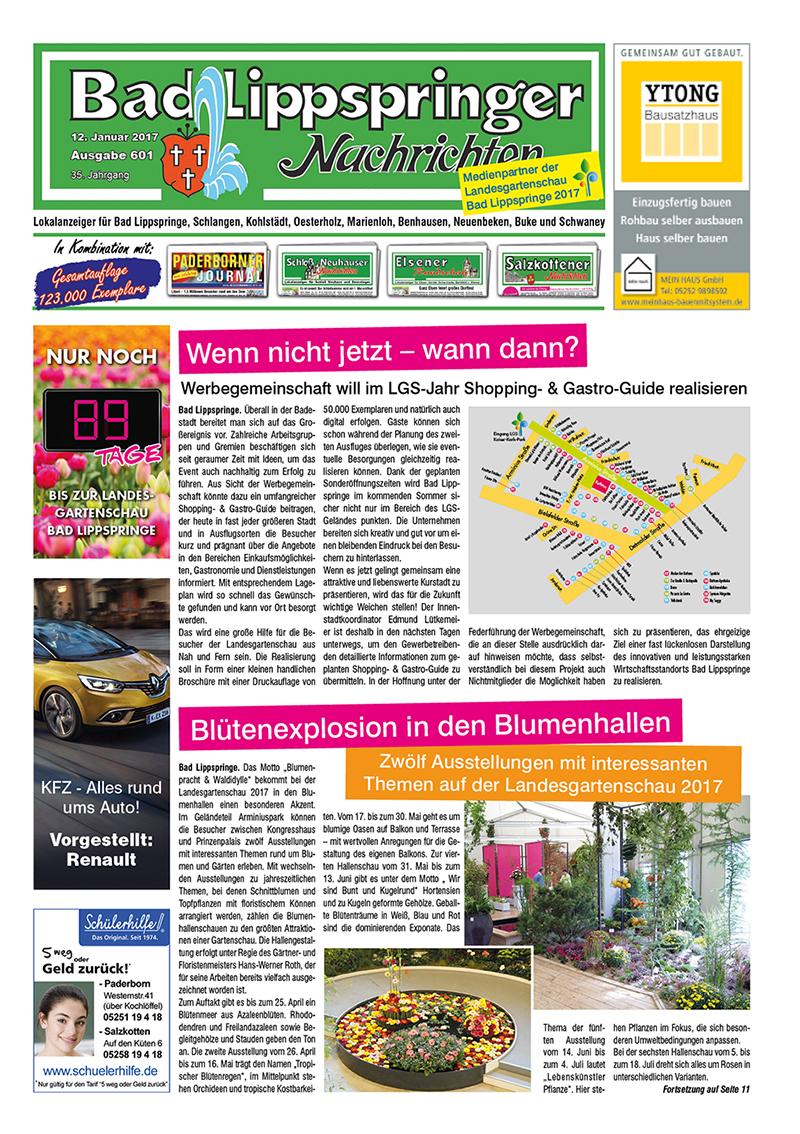 Bad Lippspringer Nachrichten 601 vom 12.01.2017