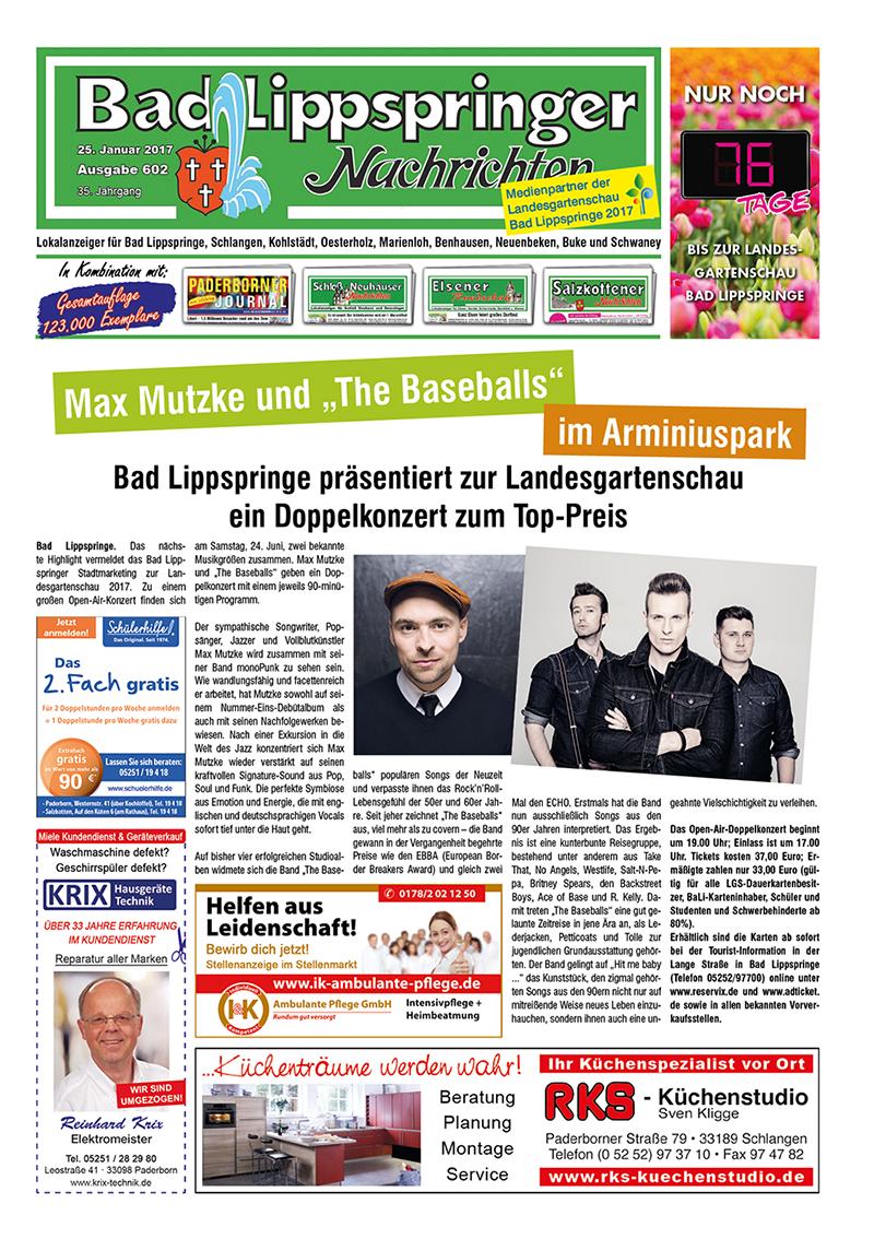 Bad Lippspringer Nachrichten 602 vom 25.01.2017