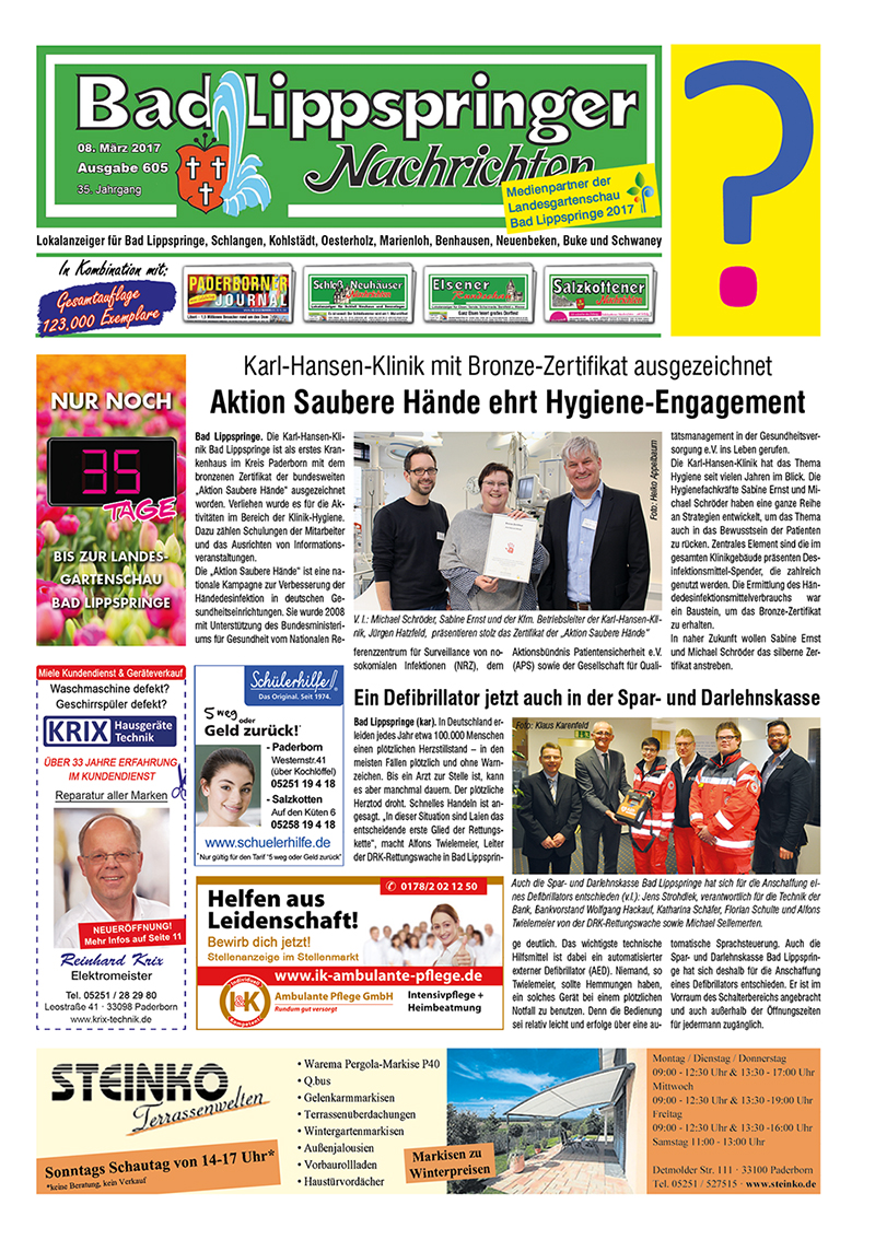 Bad Lippspringer Nachrichten 605 vom 08.03.2017