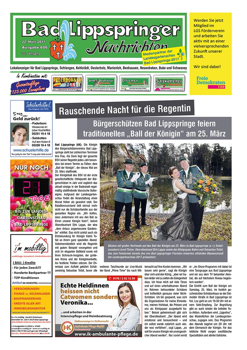 Bad Lippspringer Nachrichten 606 vom 22.03.2017