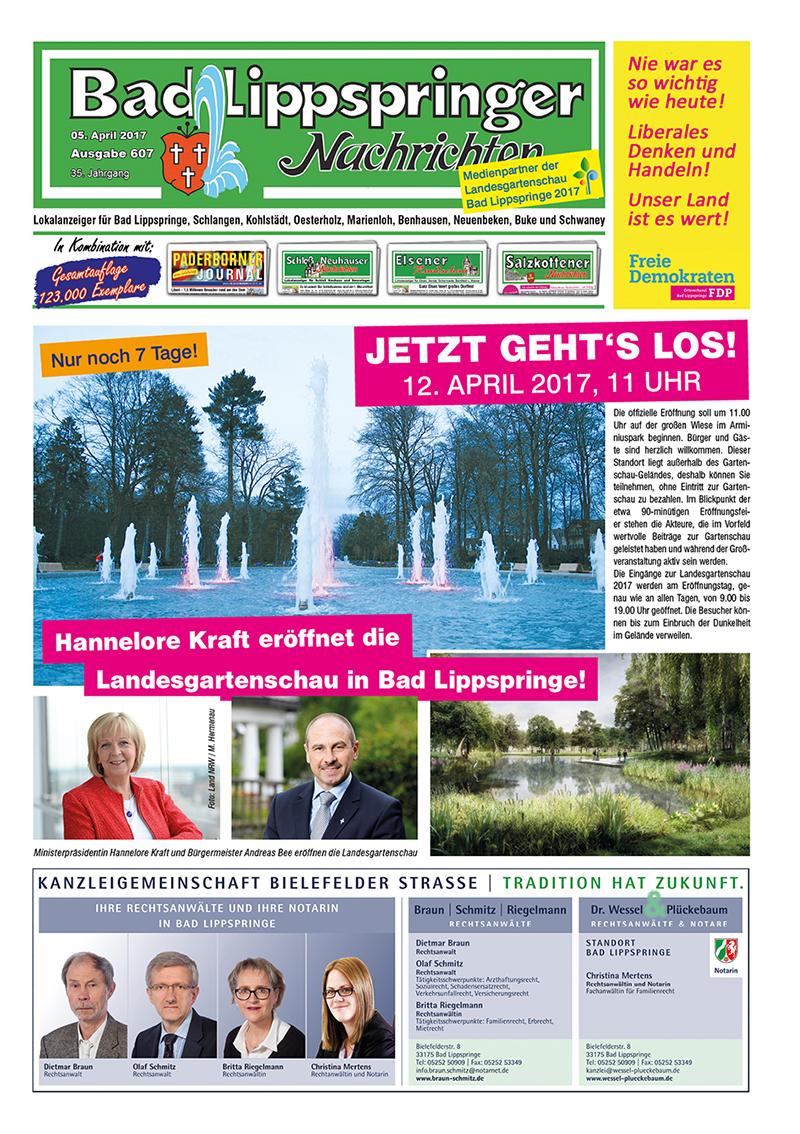 Bad Lippspringer Nachrichten 607 vom 05.04.2017