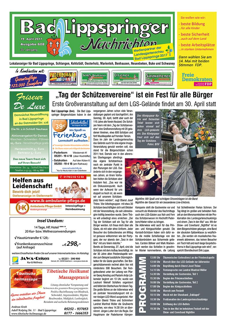 Bad Lippspringer Nachrichten 608 vom 19.04.2017