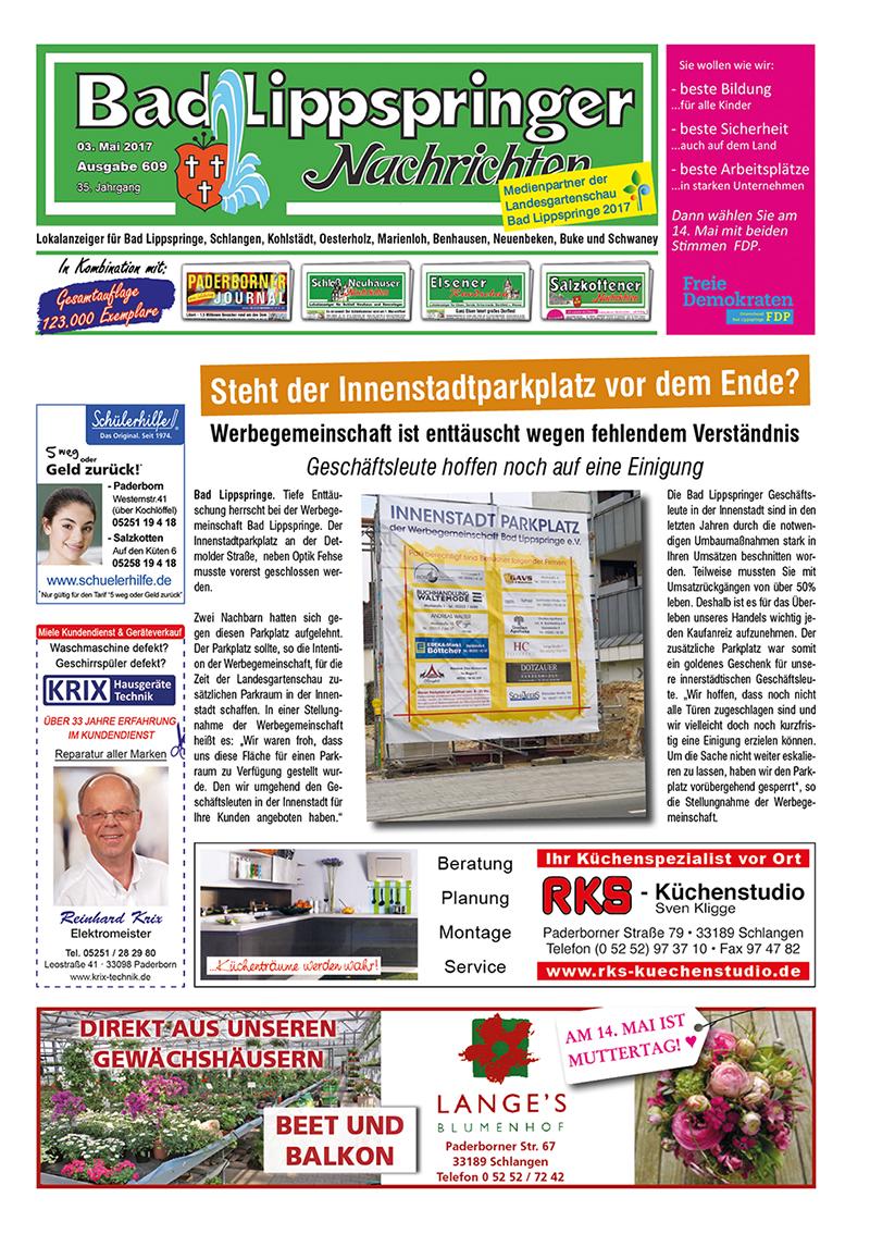 Bad Lippspringer Nachrichten 609 vom 03.05.2017