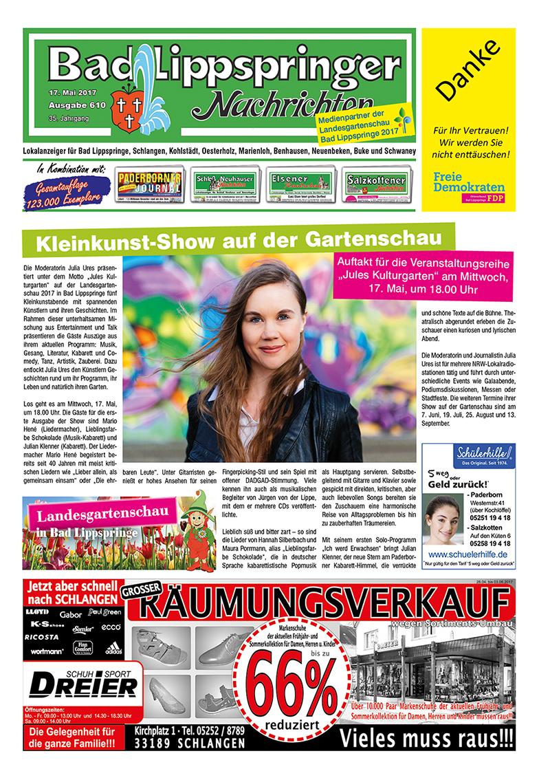 Bad Lippspringer Nachrichten 610 vom 17.05.2017