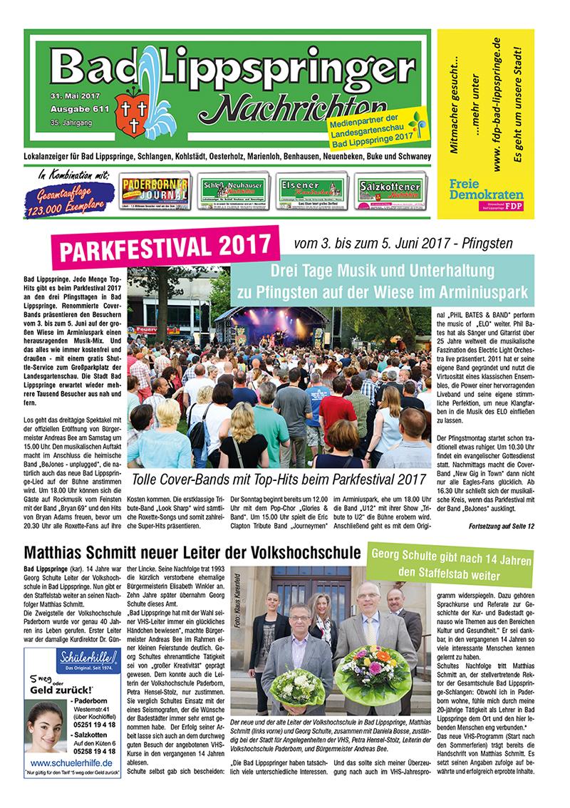 Bad Lippspringer Nachrichten 611 vom 31.05.2017