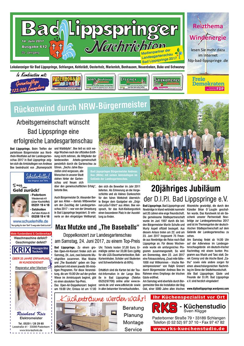 Bad Lippspringer Nachrichten 612 vom 14.06.2017