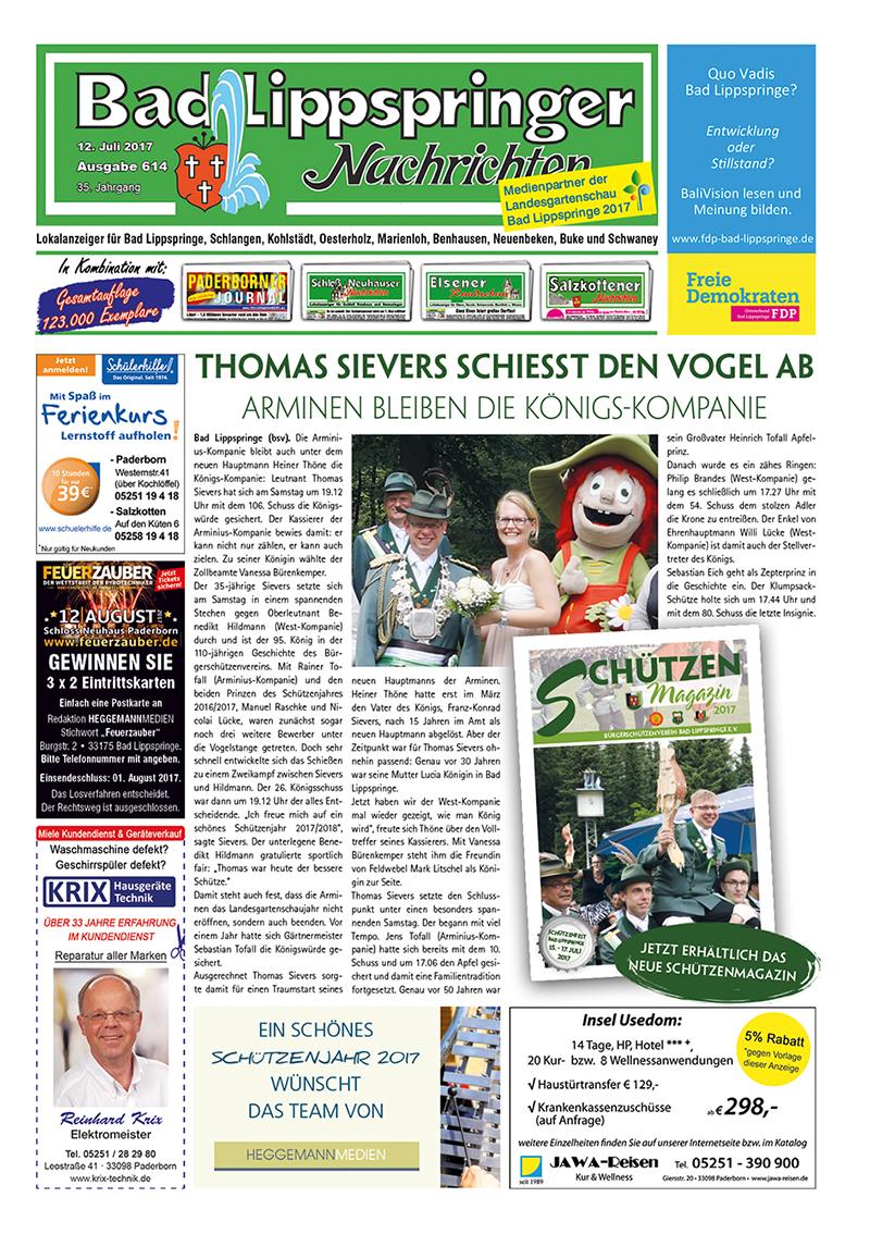Bad Lippspringer Nachrichten 614 vom 12.07.2017