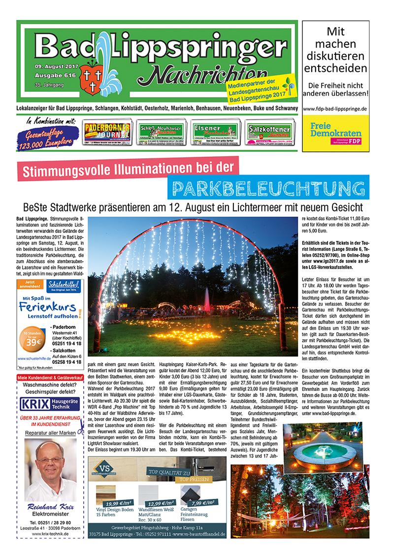 Bad Lippspringer Nachrichten 616 vom 09.08.2017