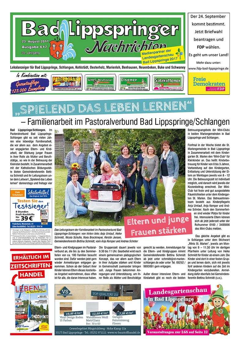 Bad Lippspringer Nachrichten 617 vom 23.08.2017