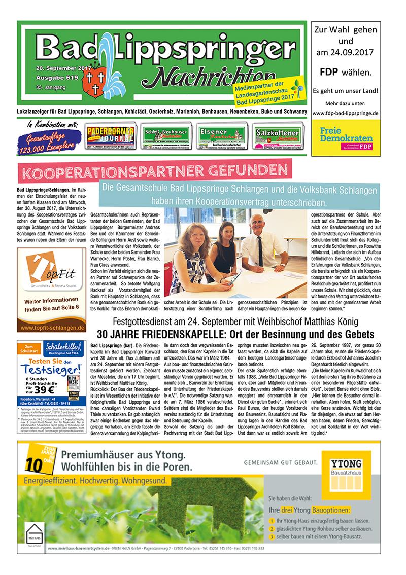 Bad Lippspringer Nachrichten 619 vom 20.09.2017