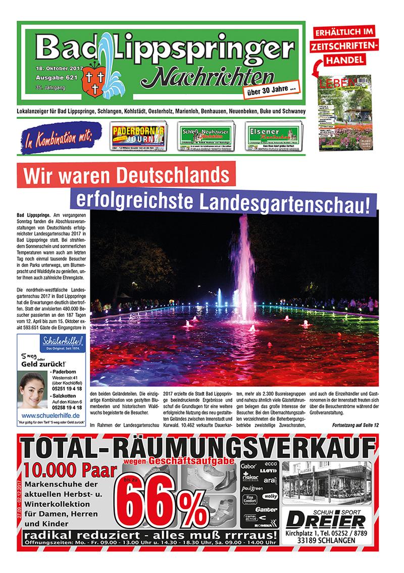 Bad Lippspringer Nachrichten 621 vom 18.10.2017