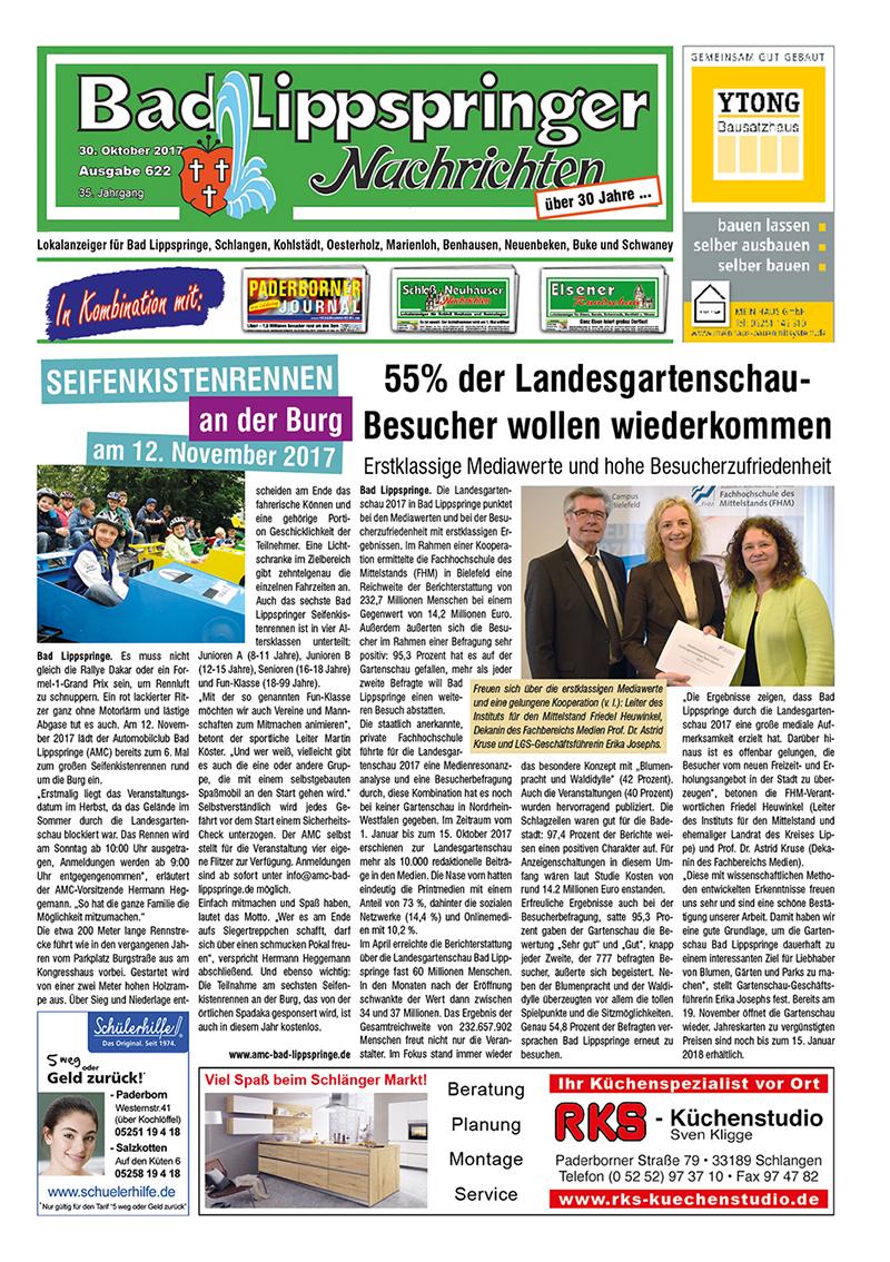 Bad Lippspringer Nachrichten 622 vom 30.10.2017