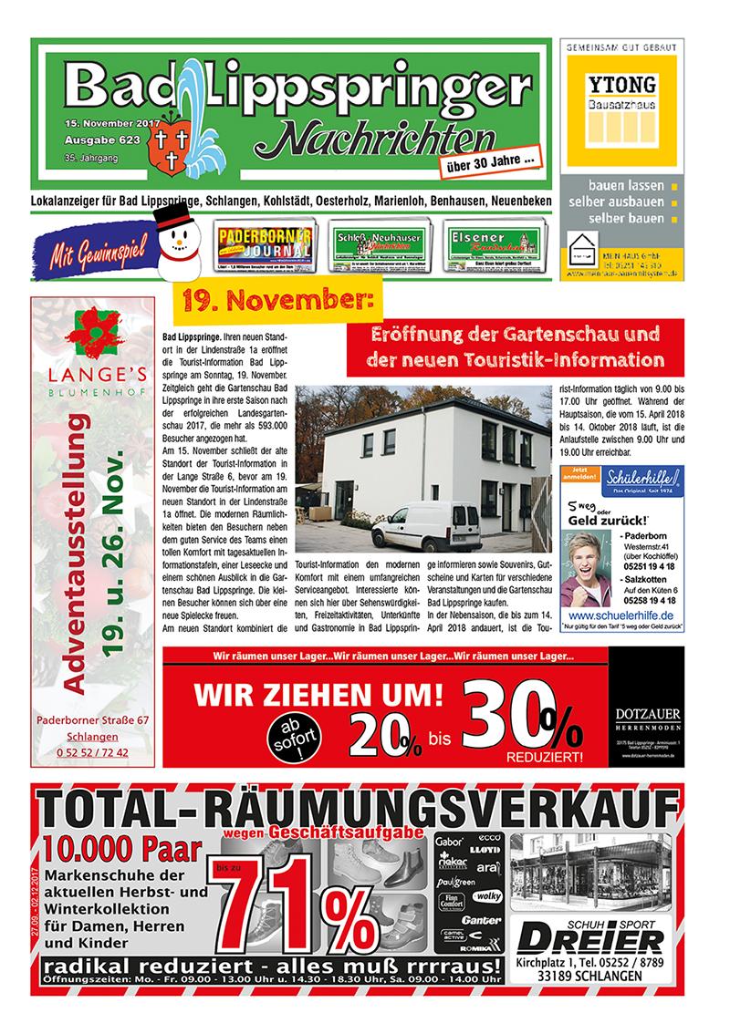 Bad Lippspringer Nachrichten 623 vom 15.11.2017