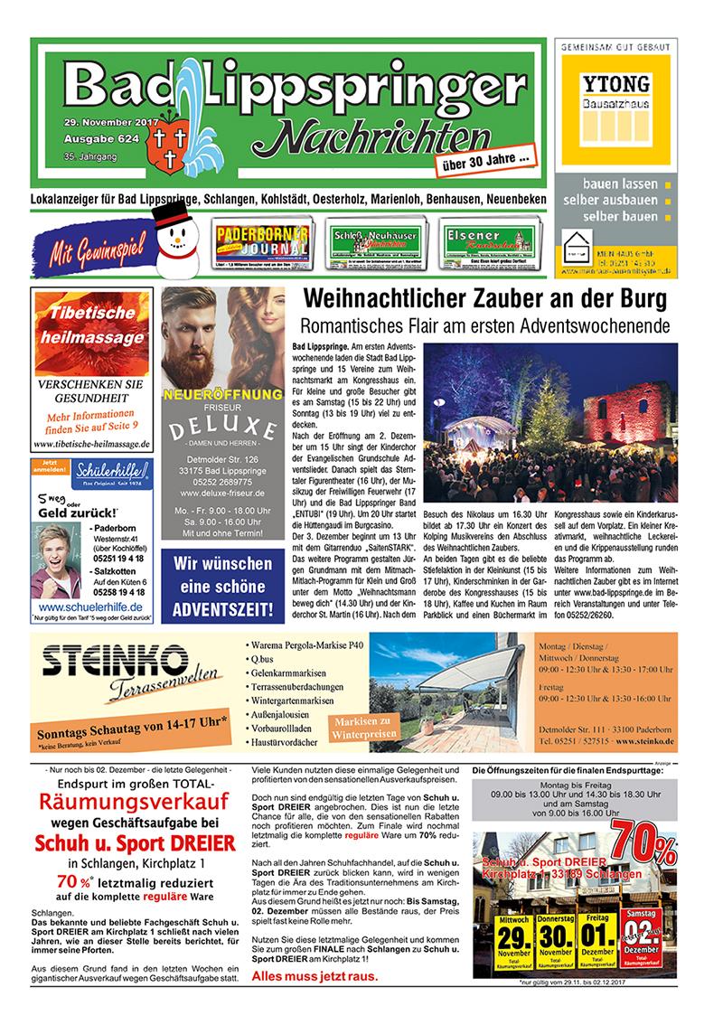 Bad Lippspringer Nachrichten 624 vom 29.11.2017