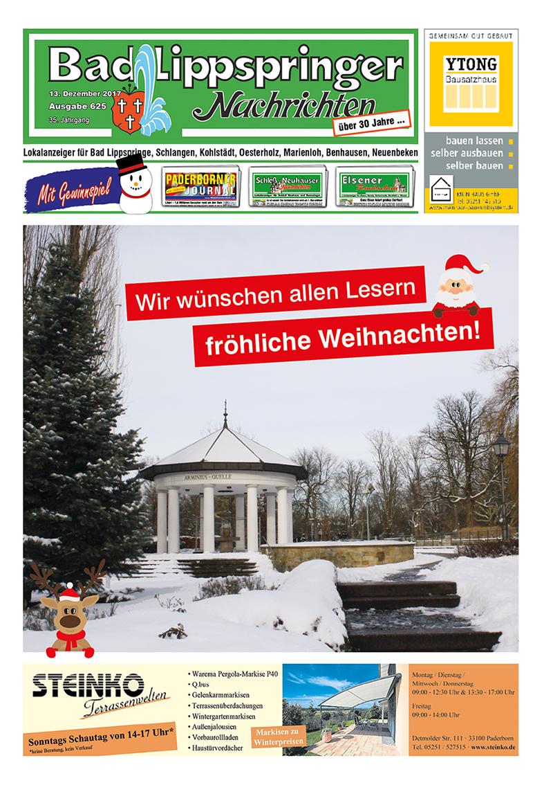 Bad Lippspringer Nachrichten 625 vom 13.12.2017