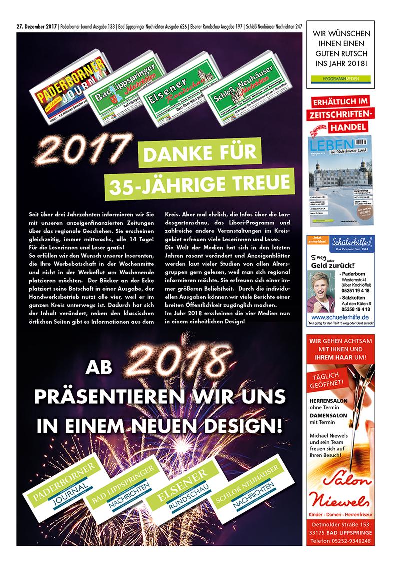 Bad Lippspringer Nachrichten 626 vom 27.12.2017