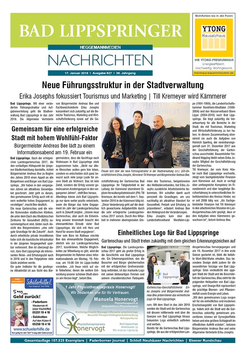 Bad Lippspringer Nachrichten 627 vom 17.01.2018