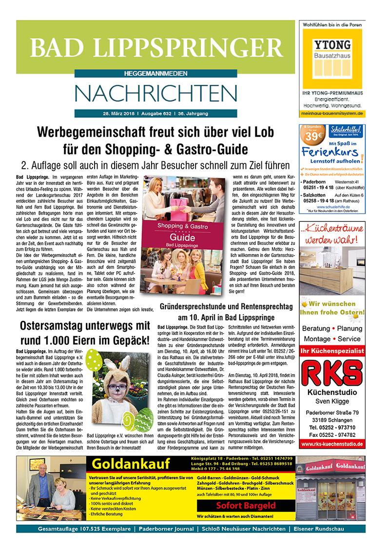 Bad Lippspringer Nachrichten 632 vom 28.03.2018