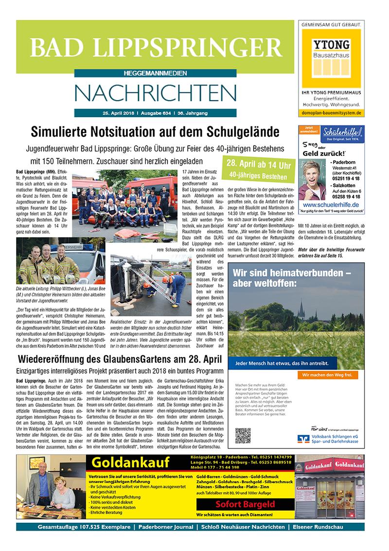 Bad Lippspringer Nachrichten 634 vom 25.04.2018