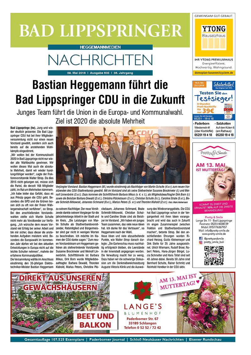 Bad Lippspringer Nachrichten 635 vom 09.05.2018
