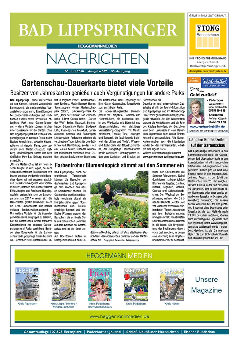 Bad Lippspringer Nachrichten 637 vom 06.06.2018