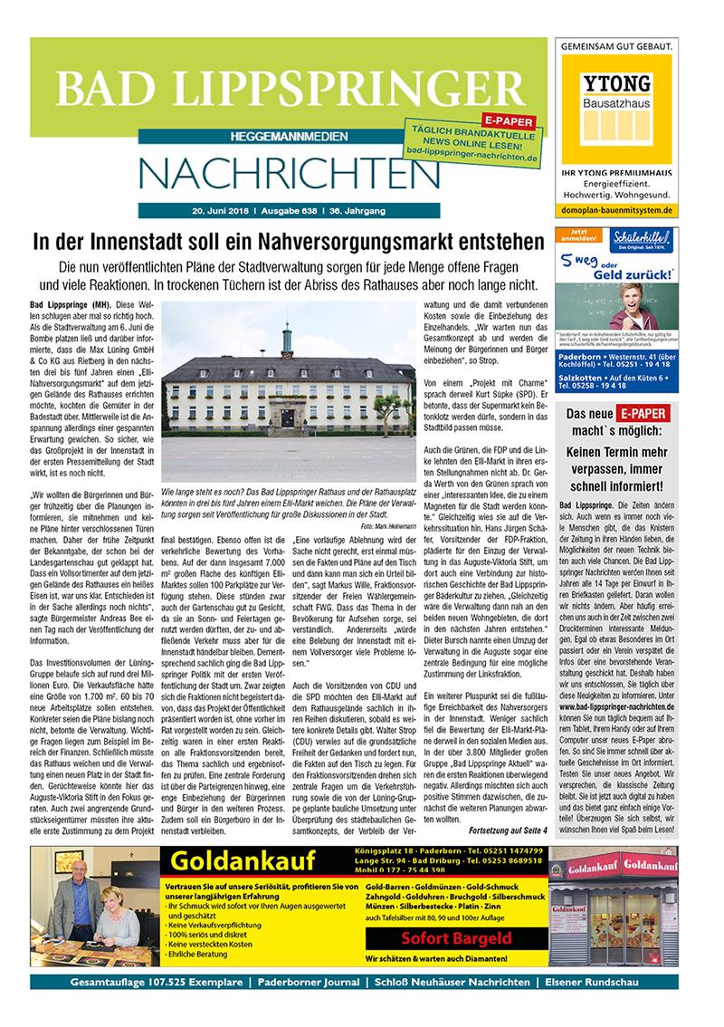 Bad Lippspringer Nachrichten 638 vom 20.06.2018