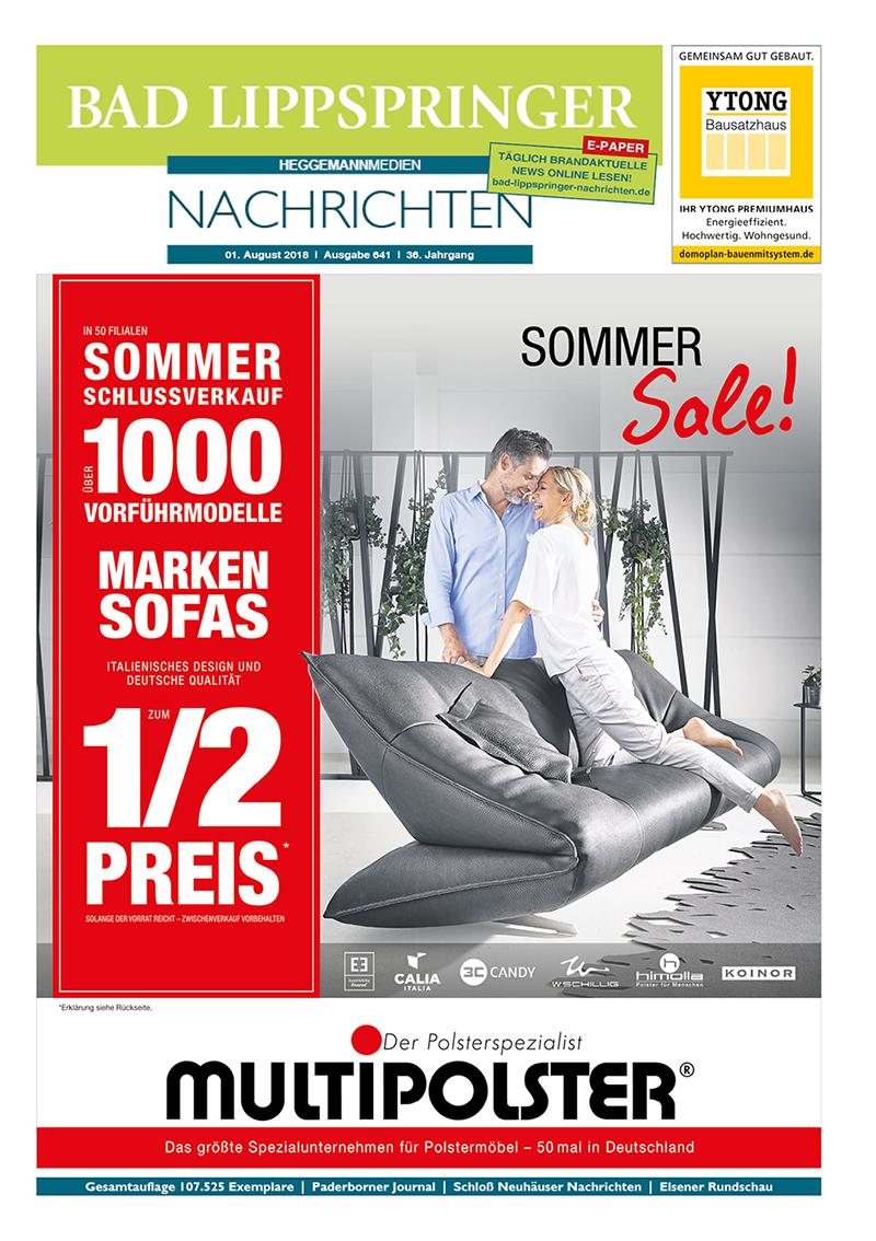 Bad Lippspringer Nachrichten 641 vom 01.08.2018