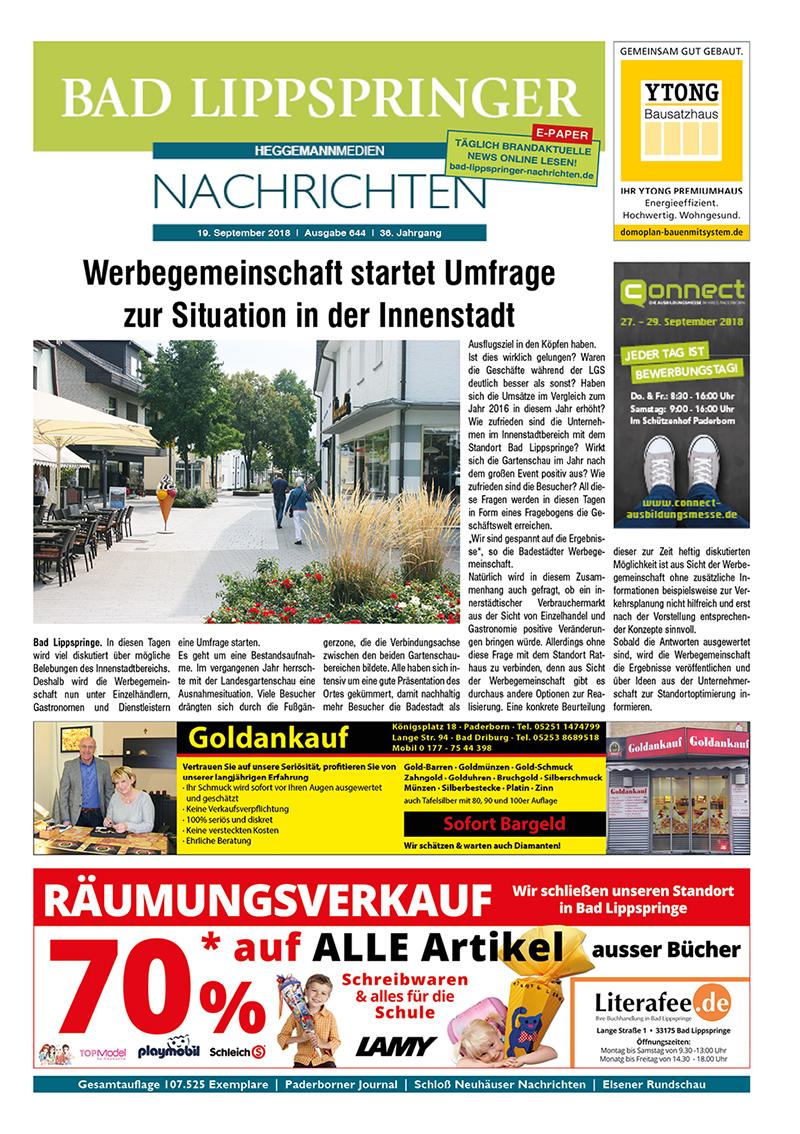 Bad Lippspringer Nachrichten 644 vom 19.09.2018