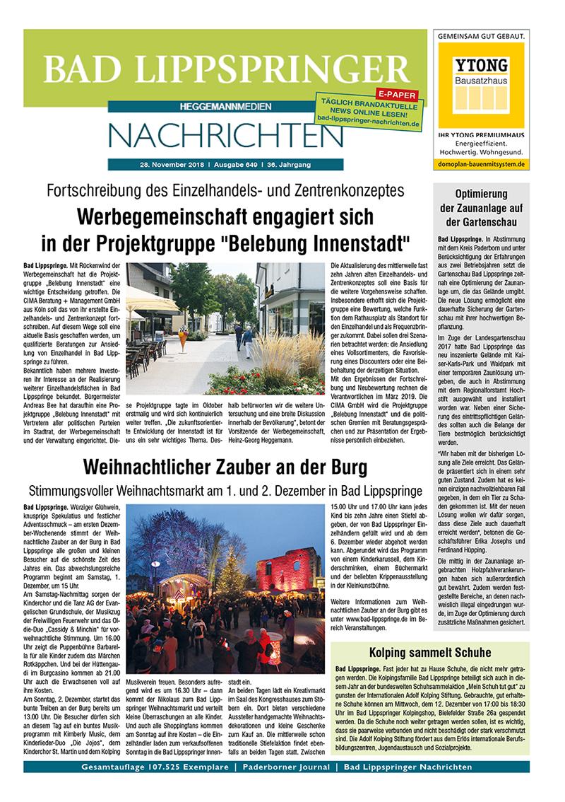 Bad Lippspringer Nachrichten 649 vom 28.11.2018