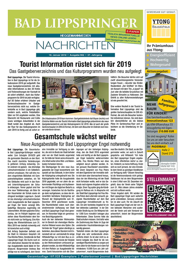 Bad Lippspringer Nachrichten 652 vom 18.01.2019