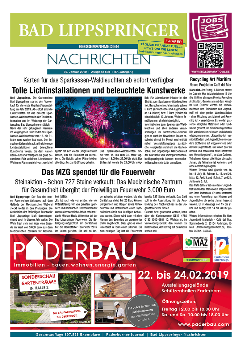 Bad Lippspringer Nachrichten 653 vom 30.01.2019