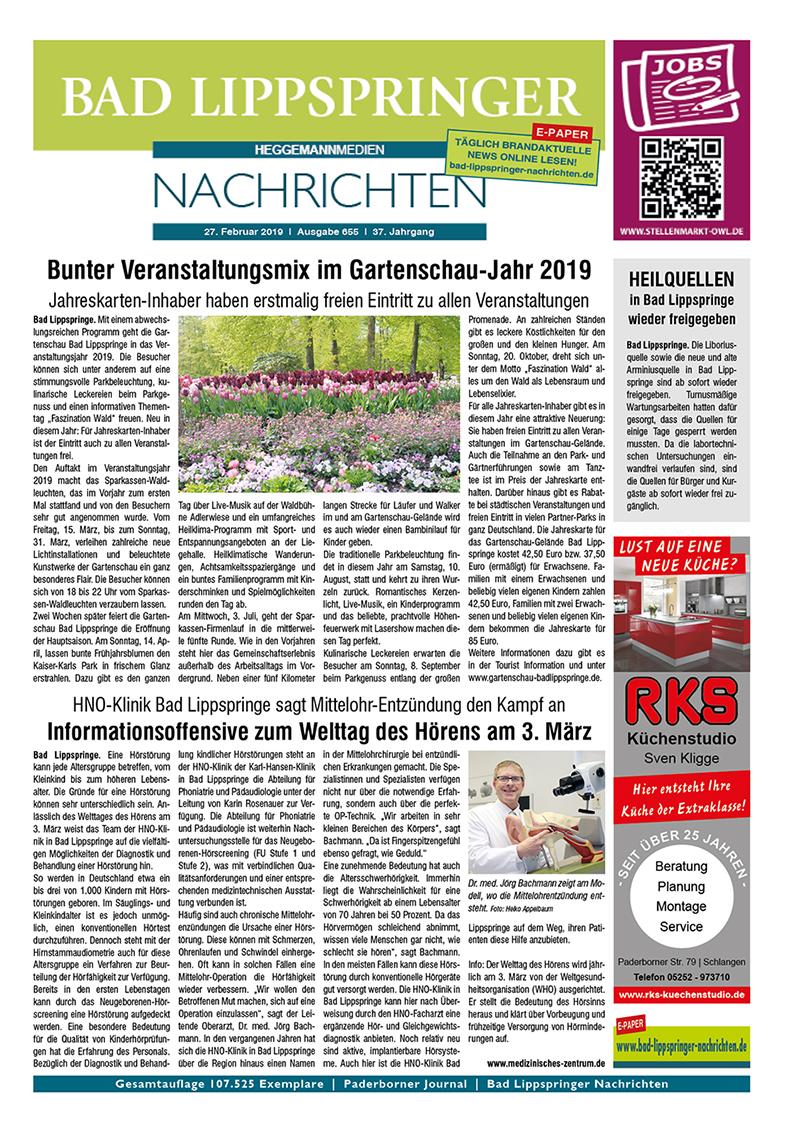 Bad Lippspringer Nachrichten 655 vom 27.02.2019