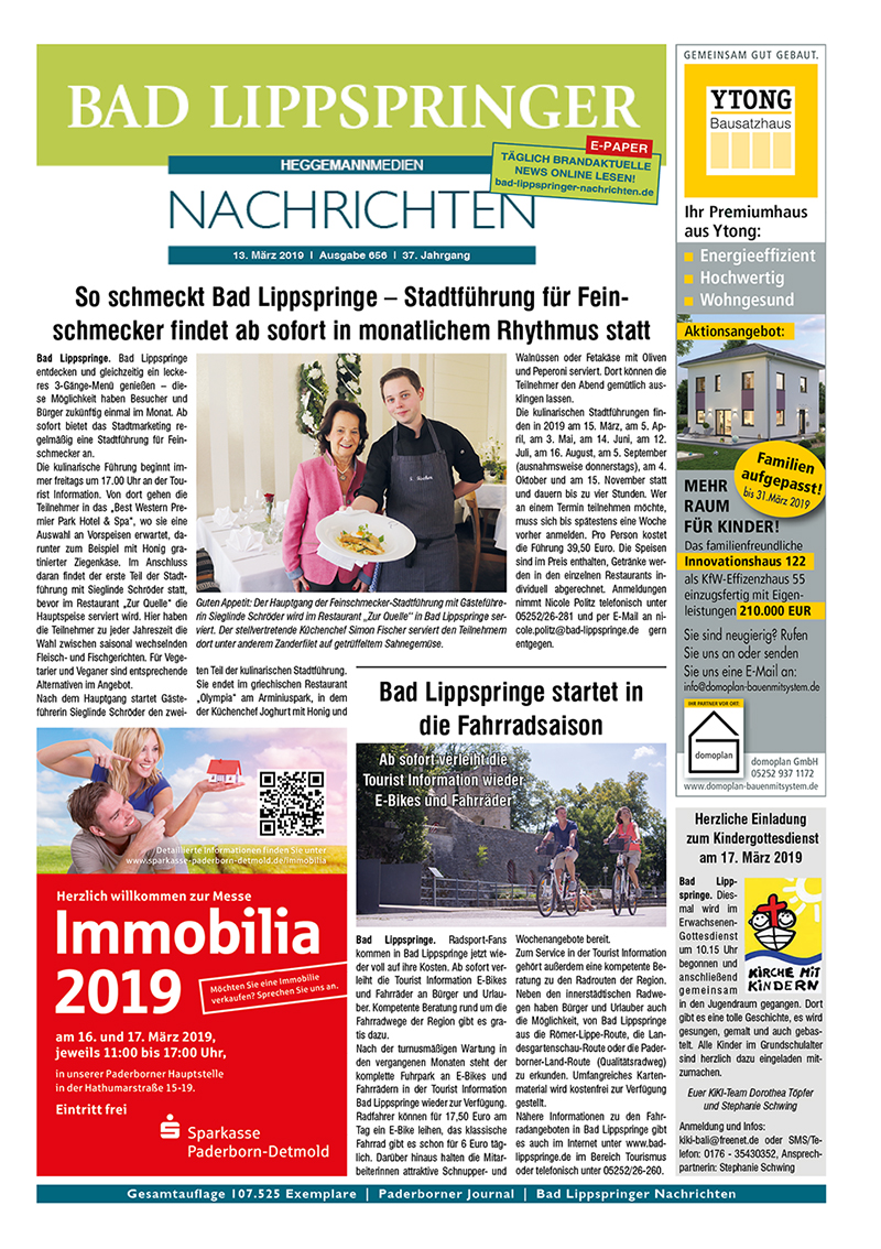 Bad Lippspringer Nachrichten 656 vom 13.03.2019