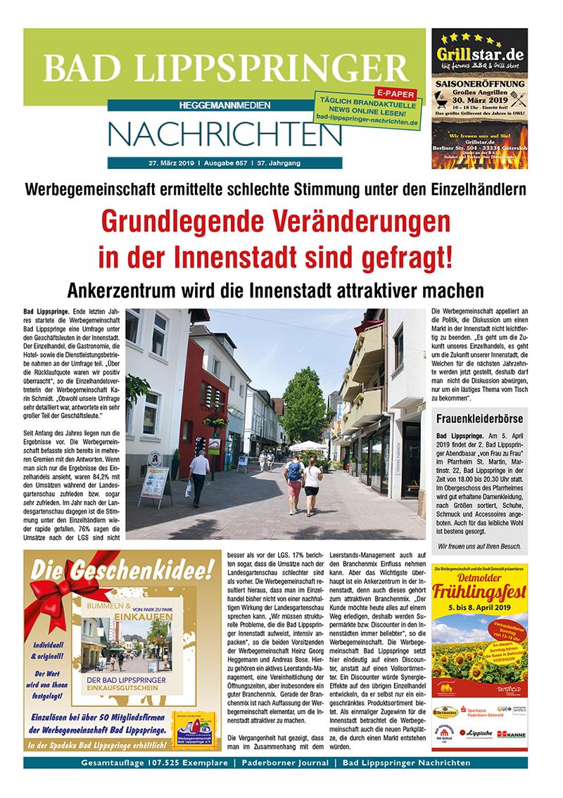 Bad Lippspringer Nachrichten 657 vom 27.03.2019