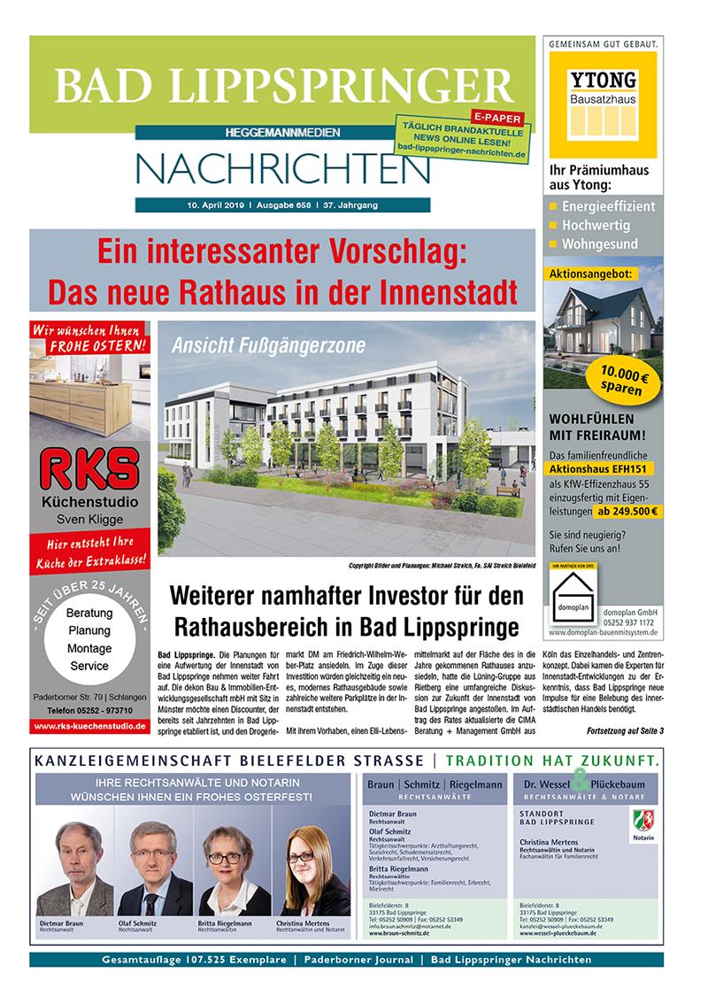Bad Lippspringer Nachrichten 658 vom 10.04.2019