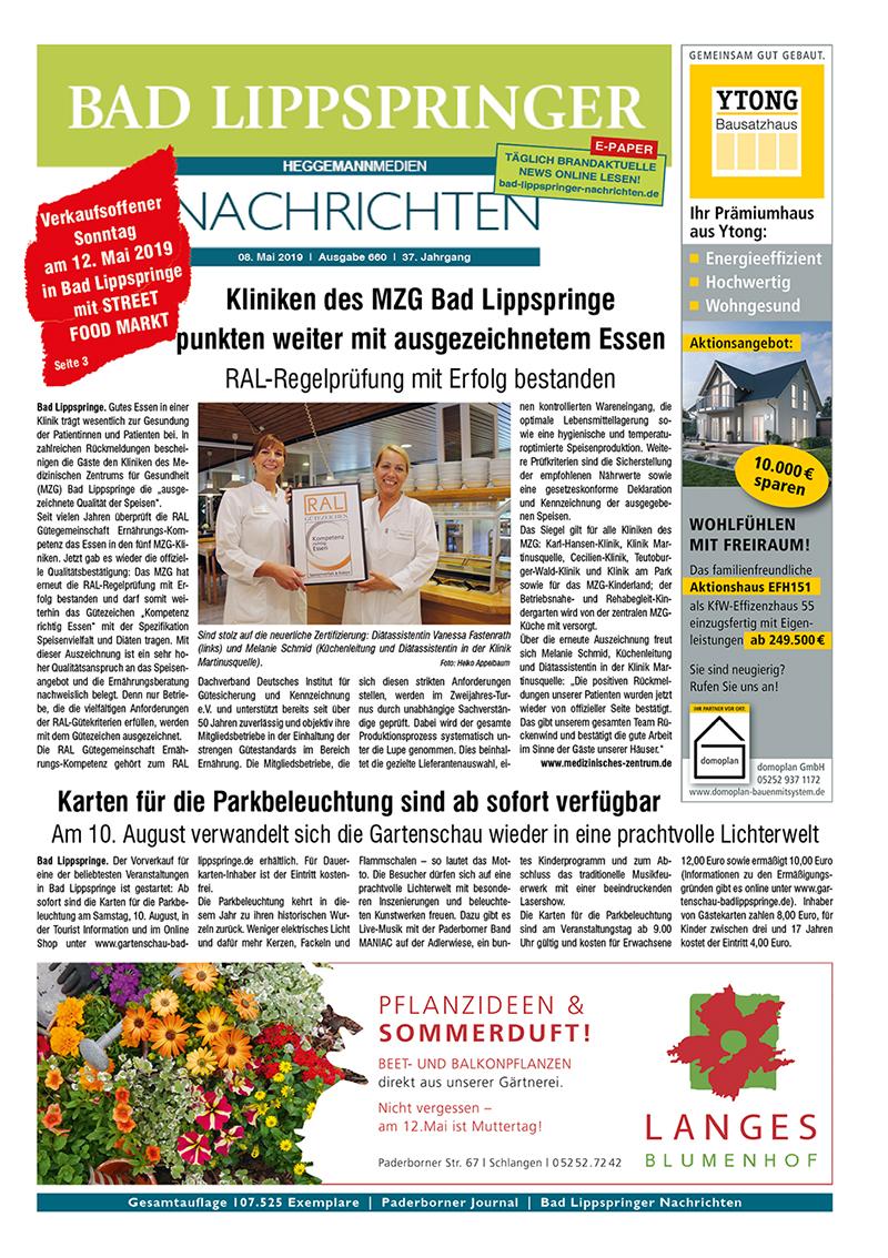 Bad Lippspringer Nachrichten 660 vom 08.05.2019