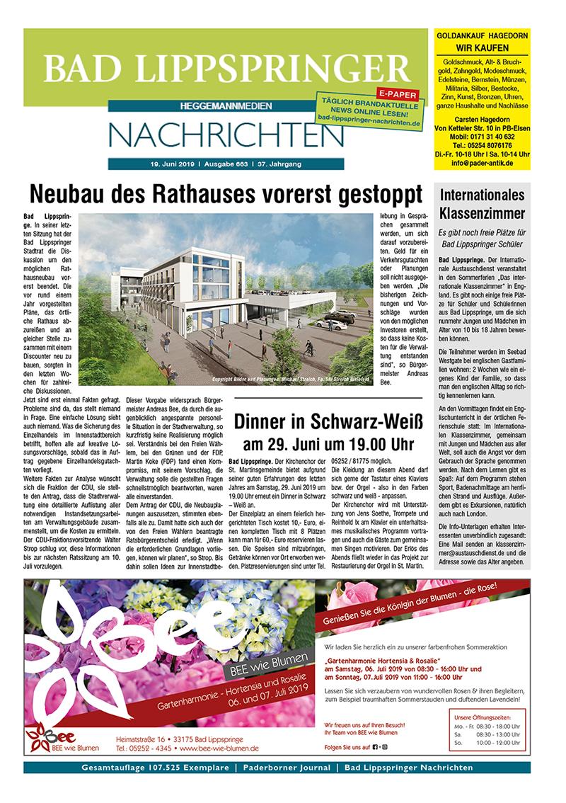 Bad Lippspringer Nachrichten 663 vom 19.06.2019