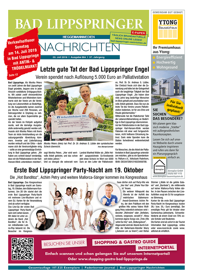 Bad Lippspringer Nachrichten 664 vom 03.07.2019